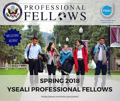 Announcement of the spring 2018 young southeast asian leaders initiative (YSEALI) academic fellowship